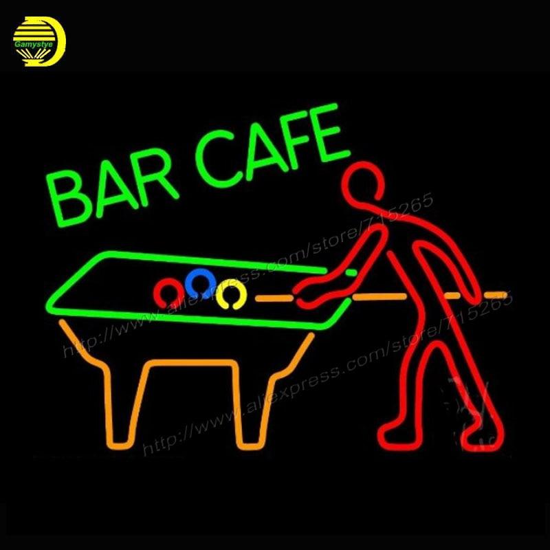 Neon Light Bulbs >> 2017 Neon Sign Bar Cafe With Pool Neon Light Glass Arcade ...