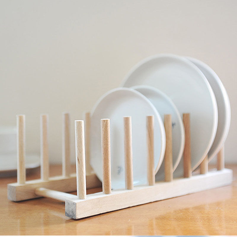 Wooden Puer Tea Cake Plate Rack Holder Cabinet Stand