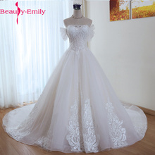 Luxury heavy beaded wedding dress Korean Lace Up Ball Gown Quality Wedding Dresses Customized Plus Size Bridal Dress Real Photo