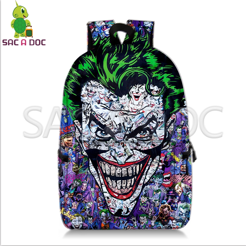 937c11a624d1 Crazy Joker Batman Collages Backpack Superhero School Bags for Teenage  Girls Boys Fans Daily Backpack Kids Book Bag-in Backpacks from Luggage    Bags on ...