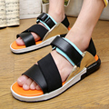 2016 Korean version of the new men's sandals summer youth trend personality casual beach sandals Rome
