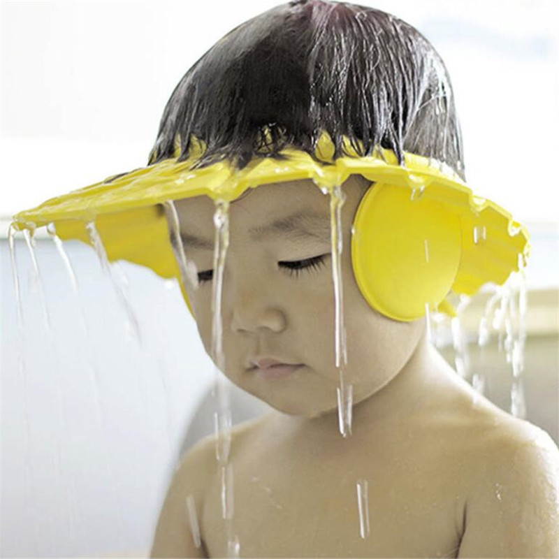 Safe Shampoo Shower Bathing Bath Protect Soft Cap Hat For Baby Wash Hair Shield Bebes Children Bathing Shower Cap Hat Kids