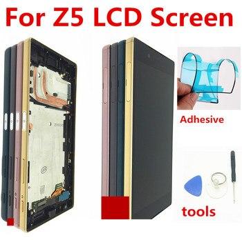 Для sony Xperia Z5 E6633 E6683 ЖК-дисплей с сенсорным экраном дигитайзер в сборе с рамкой двойной карты 1920*1080 Для 5,2 sony Z5 lcd >> China XS phone screen Store