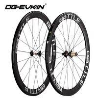 OG EVKIN Carbon Road Wheelset 50mm UD Weave 700C Bike Wheels 3K Brake Surface Carbon Wheels Road Bicycle Wheel 271 372 Hubs