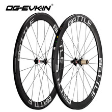 OG-EVKIN RW-003 Carbon Road Wheelset 50mm UD Weave 700C Bike Wheels Surface Carbon Wheels Road Bicycle Wheel 271-372 Hubs rs c50 bicycle wheel 700c 12k full carbon racing road bike wheels 50mm depth tubular clincher carbon bicycle rim wheels wheelset