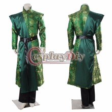 Cosplaydiy Game of Thrones King Joffery Cosplay Costume Outfit Exclusive Prince Costumes Adult Men Halloween Green Suit