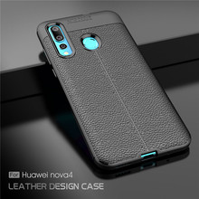 For Cover Huawei Nova 4 Case Luxury Soft Silicone Rubber Phone Back Nova4 Fundas^