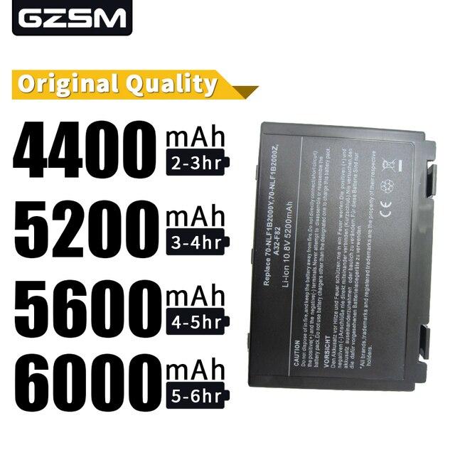 HSW חדש מחשב נייד סוללה עבור Asus k50ij k50ab סוללה עבור מחשב נייד k40in k50in F52 F82 K40 K50 A32-F52 A32-F82 החלפה סוללה
