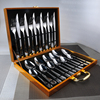 24Pcs Set High Quality Western Tableware Suit Top Grade Tableware 304 Stainless Steel Steak Fork And