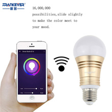 Frankever WiFi Smart Lighting Lamp Remote Control  LED Bulb RGB Gold Sliver  E27/E26 Home Automation Dimming and Color FK-A18