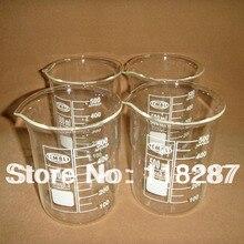 500 мл стеклянный стакан, 4 шт./лот, лабораторная посуда
