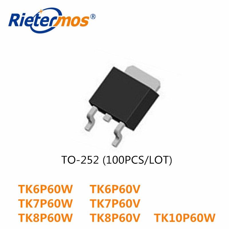 100PCS  N-CHANNEL TK10P50W TK6P60W TK6P60V  TK6P60 6P60W TK7P60W TK7P60V TK7P60 TK8P60W TK8P60V TK8P60 TK10P60W TK10P60 TO252