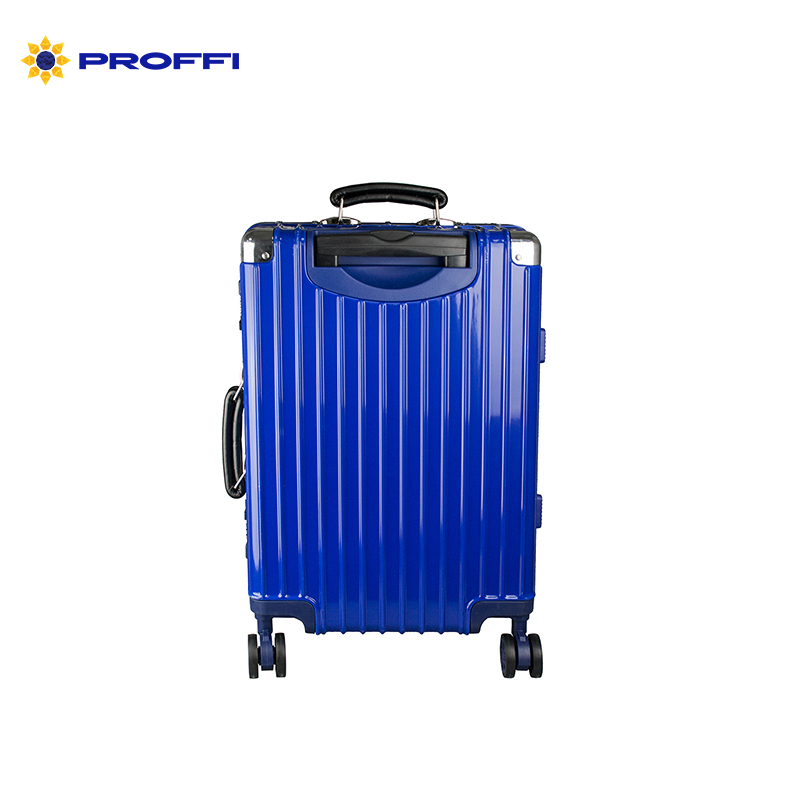 Men's business class suitcase PROFFI TRAVEL PH8868 S blue durable, lightweight with TSA combination lock on wheels bright blue proffi travel ph8367violet s plastic suitcase with 4 wheels with combination lock
