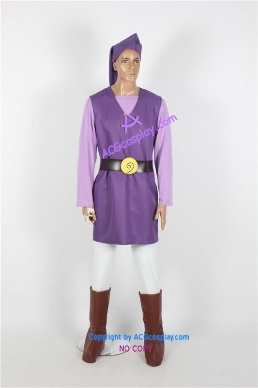 لباس افسانه Zelda Toon Link بنفش - ماسک و تن پوش کارتونی