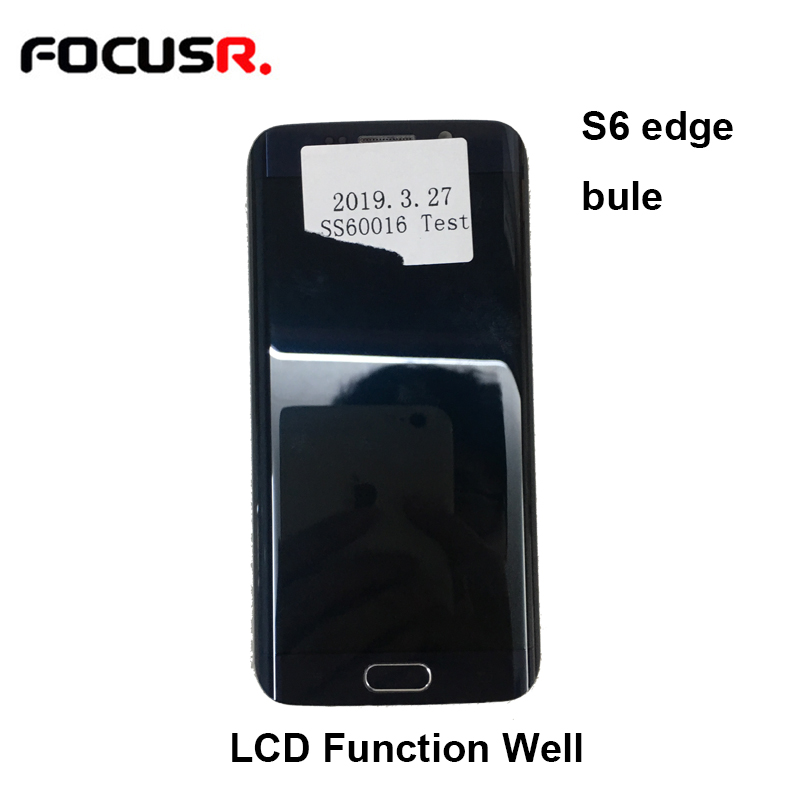 FOCUSR LCD Display Touch Screen Digitizer Assembly With Frame for Samsung S6 Edge G 925 LCD Display Parts ReplacementFOCUSR LCD Display Touch Screen Digitizer Assembly With Frame for Samsung S6 Edge G 925 LCD Display Parts Replacement