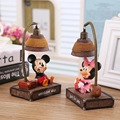 Cartoon Mickey Mouse Minnie Cute LED night light Lamp Kids PVC Action Figure Resin Collection Model Toy Doll Gifts