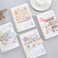 1 Pcs Cute Japanese Story Hard Cover 36K Schedule Book Diary Weekly Planner Notebook School Office
