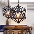 Черная Железная Современная Подвесная лампа в европейском стиле  винтажная Подвесная лампа для кухни  столовой  отеля  ресторана  2019
