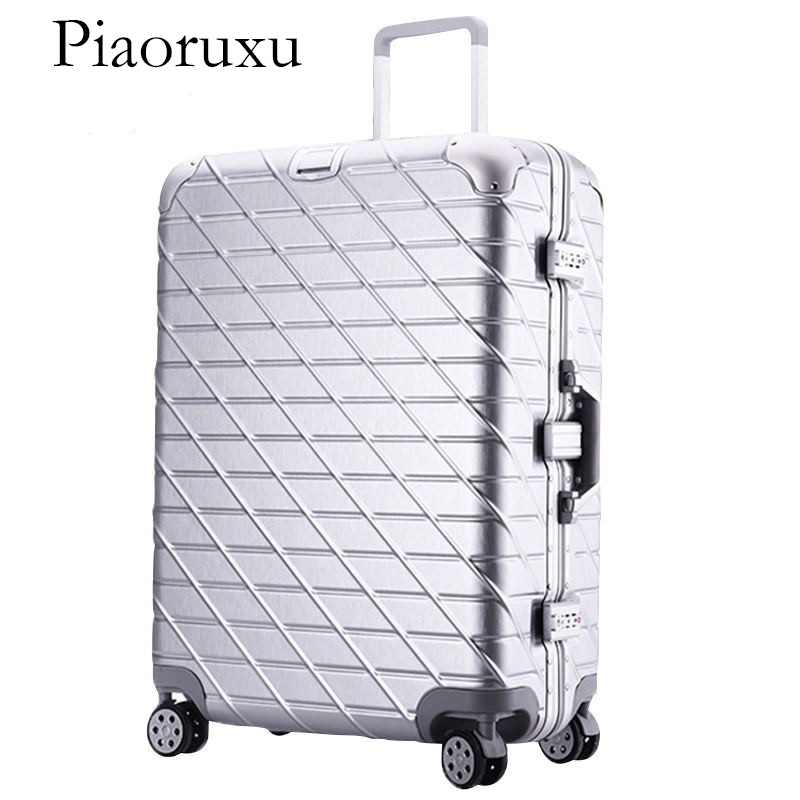 купить Piaoruxu Aluminum frame+PC Rolling Luggage Travel Suitcase Bag,Men Trolley Case,Women Multiwheel Carry-On по цене 11219.59 рублей