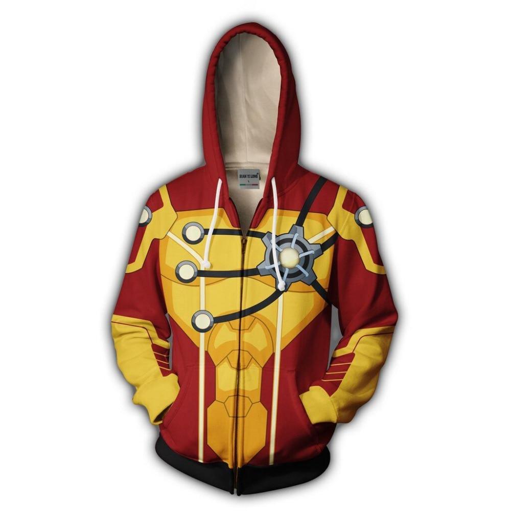 BIANYILONG 2019 new men storm hood 3D printed hoodies sweatshirt tracksuit zipper hoodie hip hop tops free