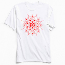 Men T Shirt Ruby Empire Tops Tees Retro O Neck T-shirt Sacred Geometry Printed On Short Sleeve 100% Cotton TShirt Drop Shipping