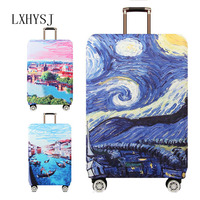 REREKAXI Suitcase Elastic Protective Cover Travel Accessories Suitable For 18 32 Inch Trolley Suitcase Dust