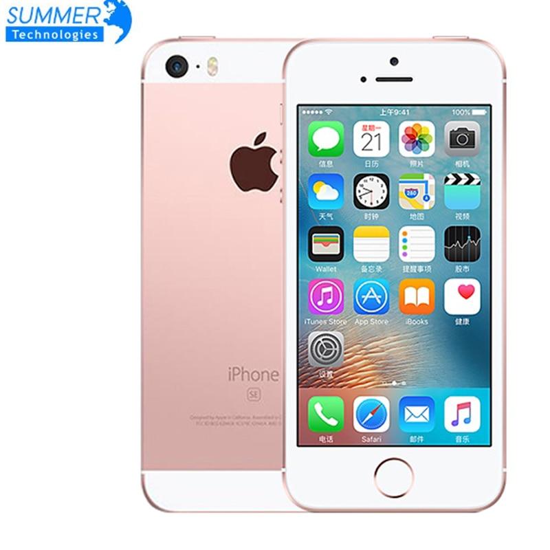 Empreinte digitale Apple iPhone SE téléphone portable Original débloqué Smartphone A9 iOS 9 double cœur 4G LTE 2GB RAM 16/64GB ROM 4.0''