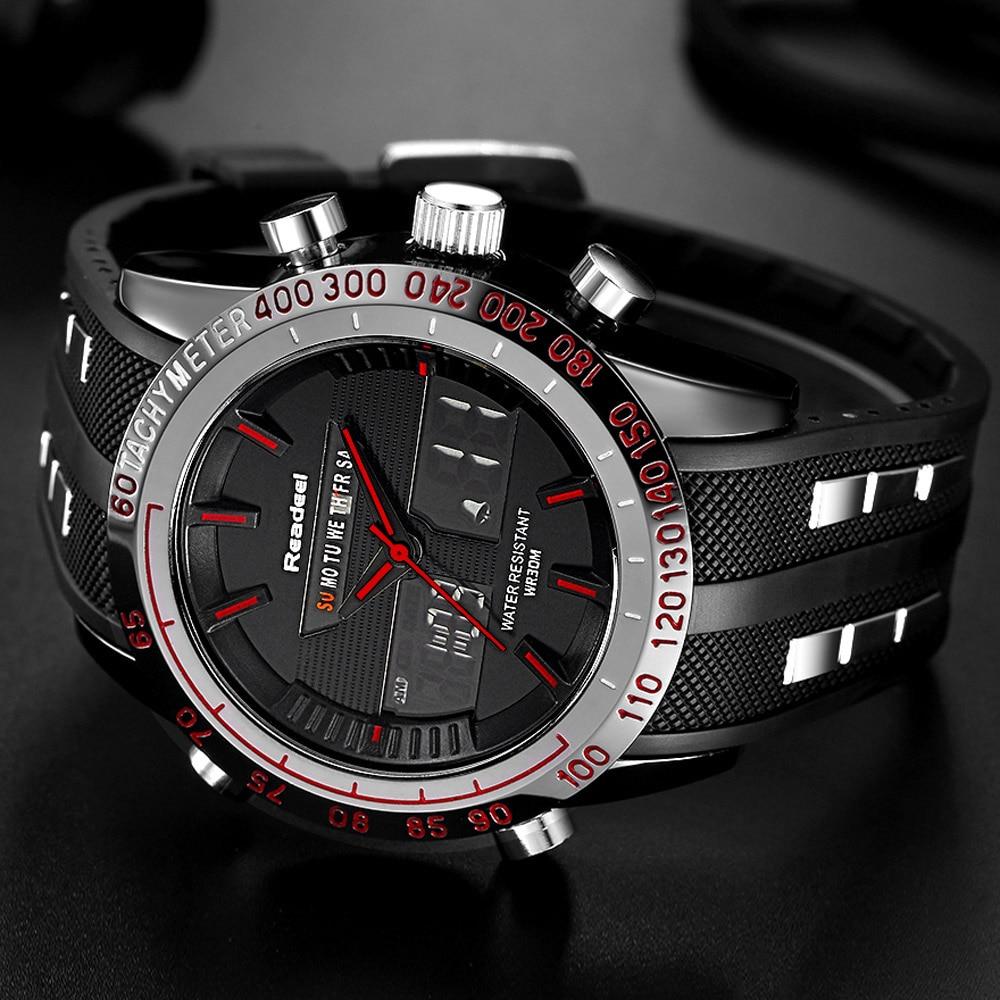 Top Luxury Brand Zegarki Mężczyźni LED Cyfrowy Wojskowy - Męskie zegarki - Zdjęcie 5