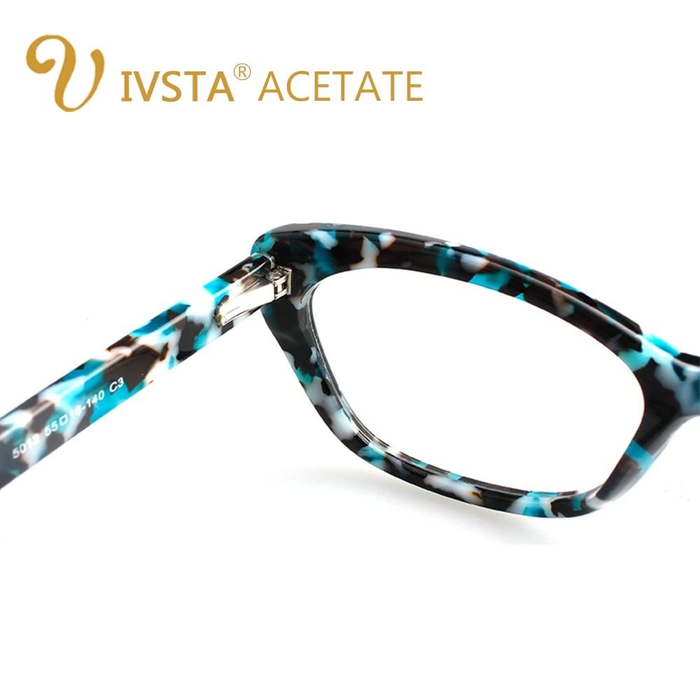 IVSTA Cat Eye Women Glasses Frame Solid Handmade Acetate Spring ...