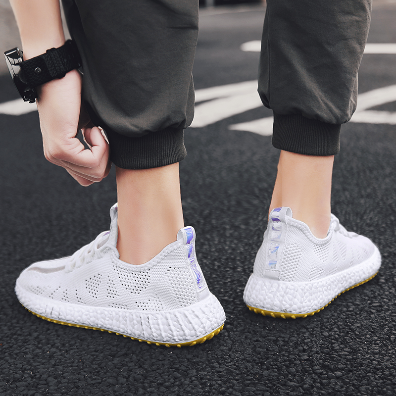 Summer Casual Sports Basket Shoes Men 39 s Comfortable Fashion Running Sneakers Men Light Mesh High Quality кроссовки in Running Shoes from Sports amp Entertainment
