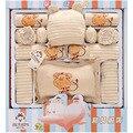 16 pçs/set dom conjuntos de alta qualidade 100% algodão roupa do bebê recém-nascido crianças bonito terno do bebê meninas meninos roupas