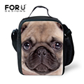 Fashion Kindergarten Kids Lunch Bag Cute Bulldog Printing Women Food Bag Snack Bags Portable Children Packing Food Picnic Bags