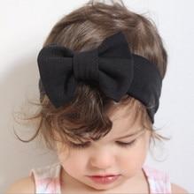 À venda infantil bowknot bandana de malha algodão crianças meninas elásticas faixas de cabelo turbante para a menina bandana de verão bandeau bebe