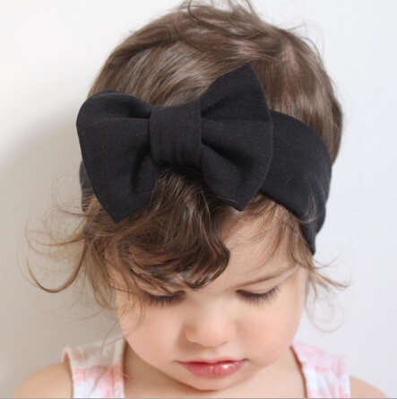 ON SALE Infant Bowknot Headband Knitted Cotton Children Girls Elastic Hair Bands Turban For Girl Headbands Summer Bandeau Bebe