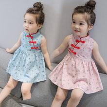 ca992cb1e JMFFY niñas Vestidos ropa de los cabritos del niño del verano Impresión de  algodón Niña princesa lindo vestido Hoilday Enfant 20.