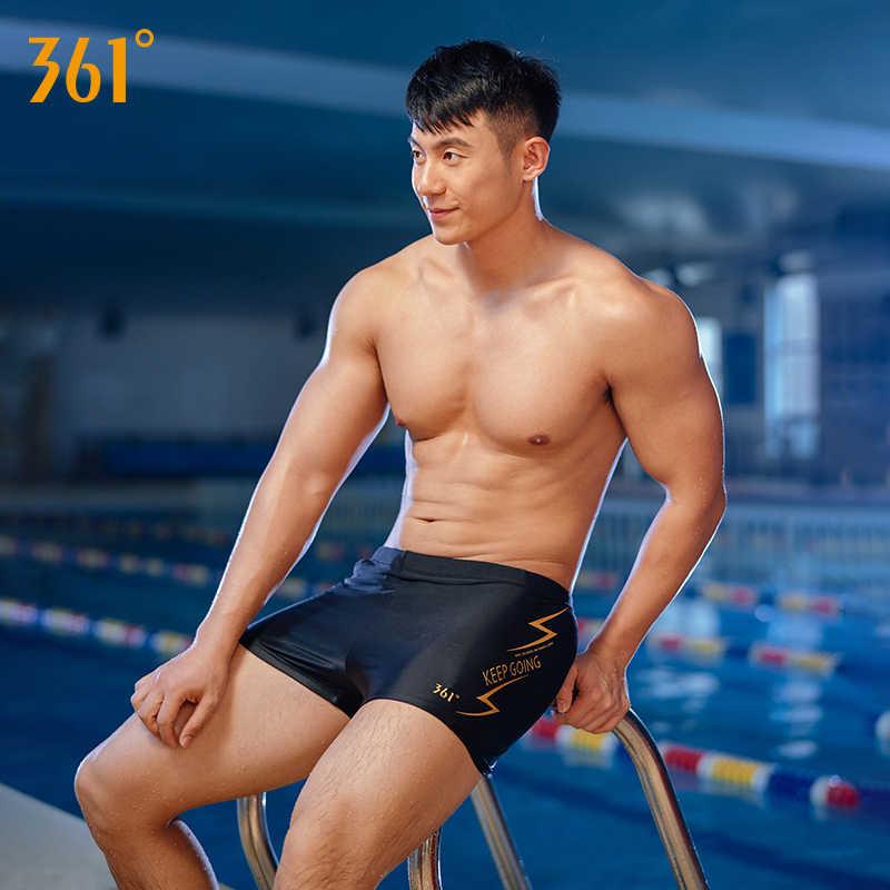 361 New Professional Swim Shorts Men's Trunks Athletic Swimming Trunks Breathable Sport Boxer Trunks Men Summer Pool Short Pants