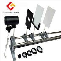 Школа обучения инструментов для физической оптики экспериментальной оборудования, таких как прикрепления коробке и объектив света экран