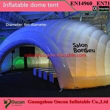 Бесплатная доставка 6 м диаметр надувные ПВХ палатка для события в том числе один воздушный вентилятор