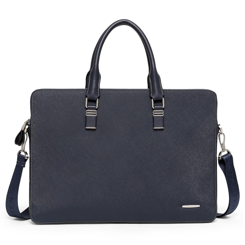 Bostanten Men Genuine Leather Briefcase 16 5inch Laptop Men Briefcase Business Bag Male Shoulder Bag Crossbody