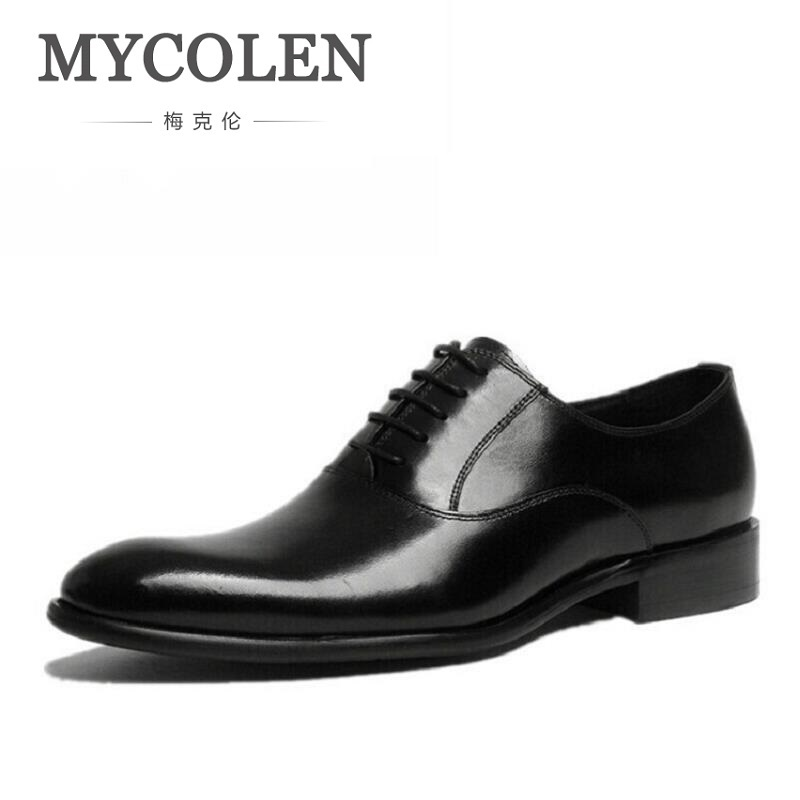 MYCOLEN Oxfords Crocodile Calfskin Dress Business Men Shoes Height Increasing Elevator Shoes Cowhide Leather Classic Mens Shoes