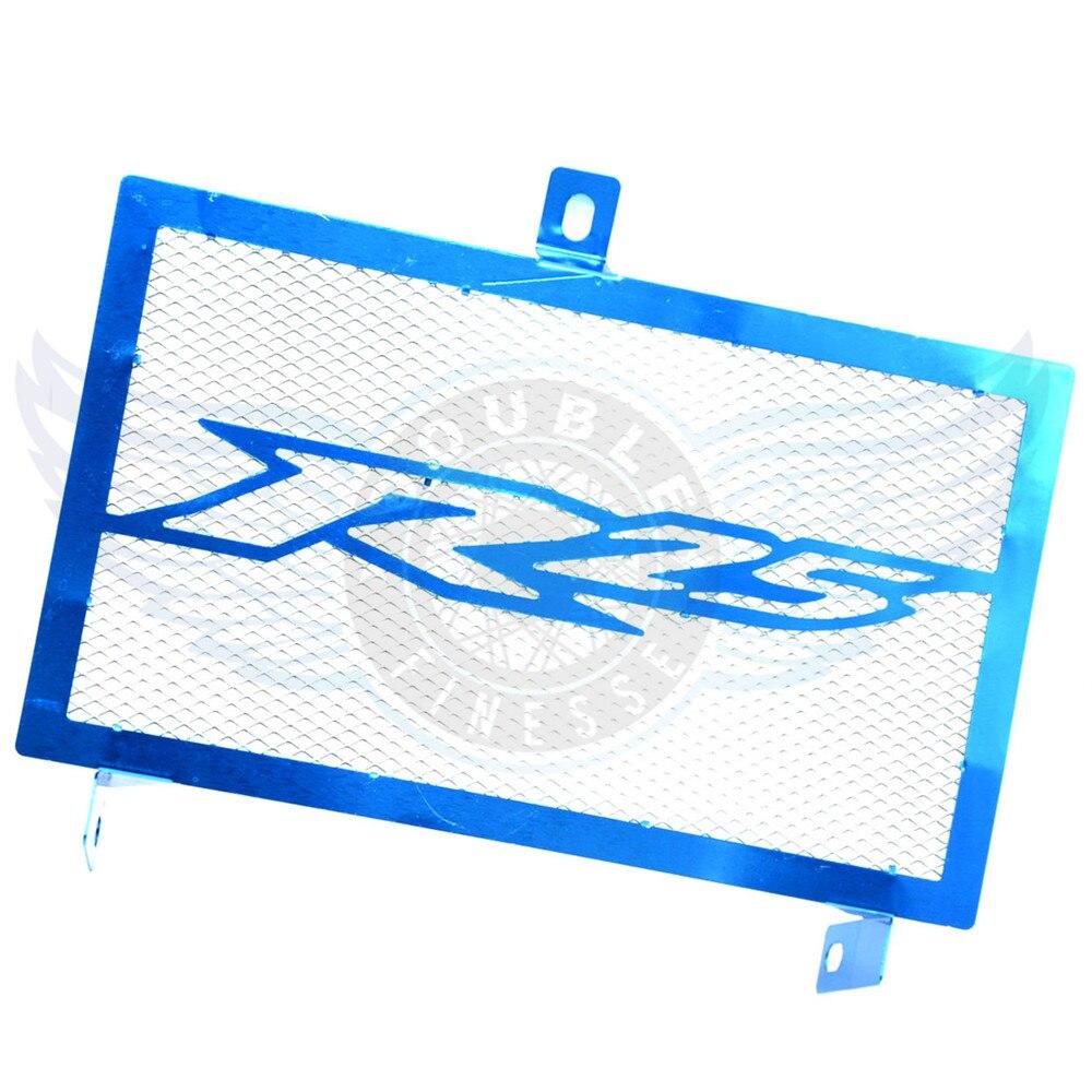 Azul accesorios de la motocicleta protector de la parrilla del radiador de acero