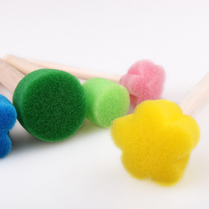 BalleenShiny-5Pcs-Creative-Sponge-Brush-Children-Art-DIY-Painting-Tools-Baby-Funny-Colorful-Flower-Pattern-Drawing (3)