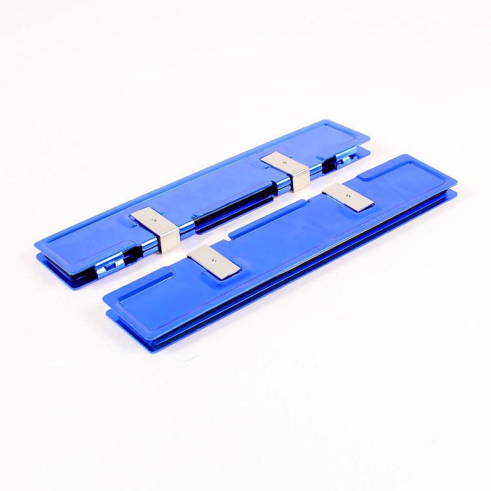 2 Pcs Blue Aluminum Heatsink Shim Spreader Cooler Cooling for DDR RAM Memory gtfs hot 2 x aluminum heatsink shim spreader for ddr ram memory