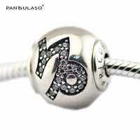Pandulaso Essence Capricorn Sign Charms Fashion Silver 925 Jewelry Fit Essence Charms Bracelets For Women Small