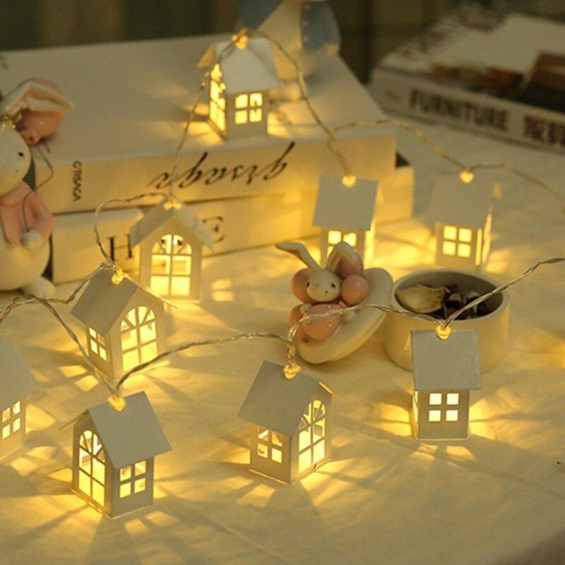 1,5 mt 10 stücke Led Neue Jahr Weihnachten Dekorationen Hause Garde Weihnachten Baum Haus Stil Fee Licht Led String Hochzeit natal Girlande