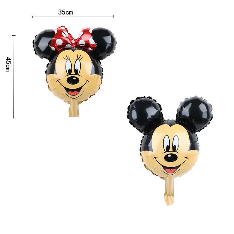 Image 2 - FUDANL 32inch Red Black Number Foil Balloons Mickey Minnie Head Balloon Figure 1 2 3 4 5 Year Kids Boy Girl Birthday Party Decor-in Ballons & Accessories from Home & Garden