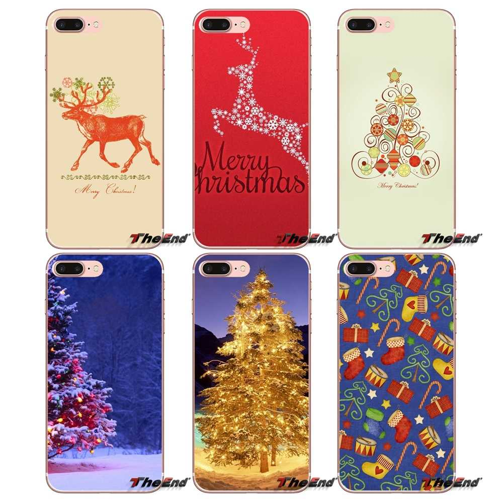 Christmas Xmas Tree Gift For Huawei P Smart Y6 Ascend P8 P9 P10 Plus Nova P20 Lite Pro Mini 2017 Accessories Phone Cases Covers