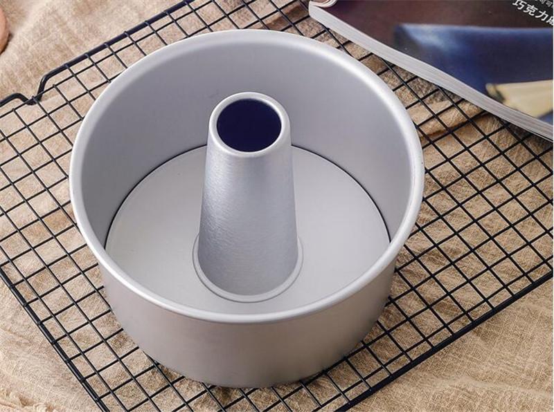6inch 8inch Aluminum Alloy Round Chiffon Cake Pan Removable Bottom Hollow Chimney Cake Mold DIY Baking Cake Tools4