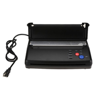 A4 Tattoo Thermal Copier Stencil Tattoo Transfer Machine Printer Machine Hot Tattoo Supplies black color US/EU Plug
