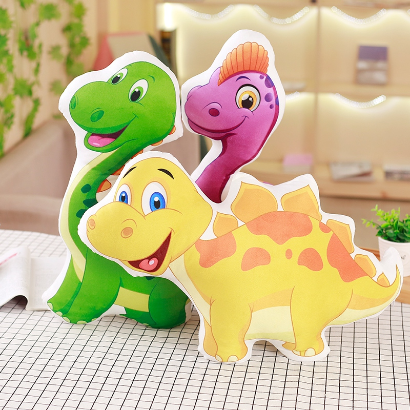 1pc Colorful Dinosaur Plush Pillow Staffed Cartoon Animal Doll Kawaii Lovely Creative Baby Kids Toy Cushion Cute Children Gift